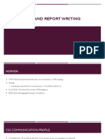 assessment and report writing