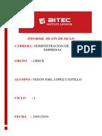 Informe de Certificacion. 1
