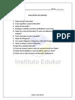 Exercícios e atividades de Teologia avançada.