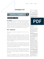 Famous Psychologists - B.F. Skinner