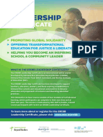 EREBB Leadership Certificate Information Leaflet