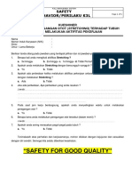 KUESIONER Behavior Safety Upload