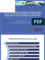 Effect of HRT on Constructed Wetland Treatment for Palm Oil Mill Effluent Treatment