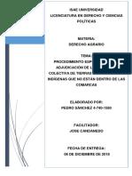 Derecho agrario Adjudicación especial de territorio a Indígenas en Panamá
