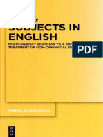 (Trends in Linguistics Studies and Monographs 321) Peter Uhrig-Subjects in English_ From Valency Grammar to a Constructionist Treatment of Non-Canonical Subjects-Walter de Gruyter (2018)
