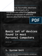 Basic Set of Devices Found in PC