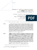 Modelling of a Solid Fuel Combustion Chamber of a Ramjet Using a Multi-block Domain Decomposition Technique