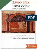 La llama doble.Octavio Paz
