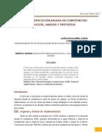 El Modelo de Educación Basada en Competencias Genealogía, Análisis y Propuestas