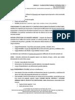 Unidad v – Planos Estructurales – 1ra Parte, Introducción