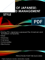The Rise of Japanese-Oriented Management Style