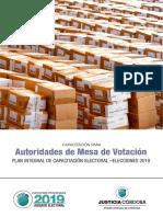 Guía de autoridad de mesa para elecciones argentinas 2019