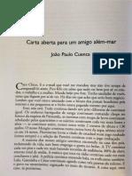 Carta abierta para un amigo más allá del mar_João Paulo Cuenca