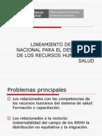 Lineamiento de Política Nacional para el Desarrollo de los Recursos Humanos en Salud Telecof 12022010