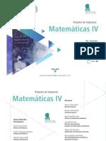 PROGRAMA DE Matematicas IV