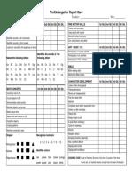 PreSchool Report Card Template