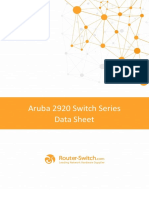 Aruba 2920 Switch Series Data Sheet