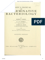 Bergey's Manual of Determinative Bacteriology, - Title Page
