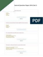 RRB JE Mechanical Question Paper-2014 (Set-1)