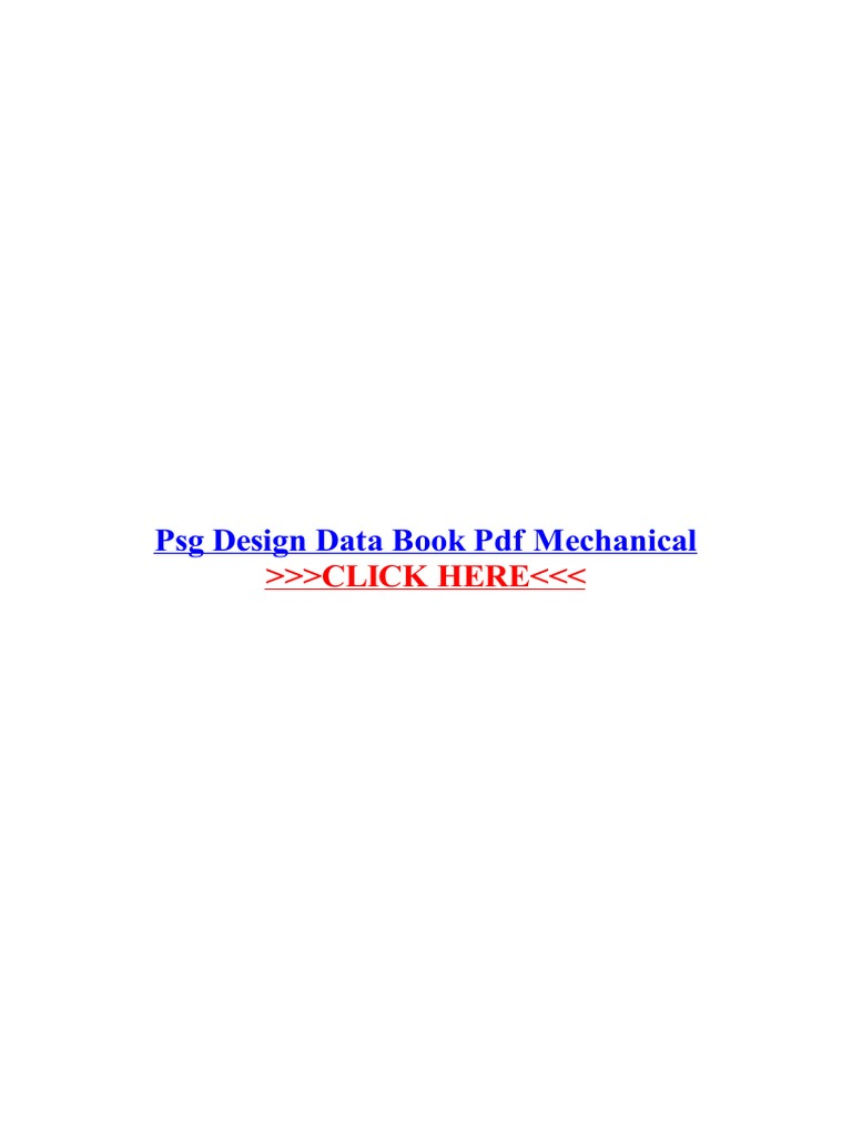 Design Data Book Psg College Of Technology