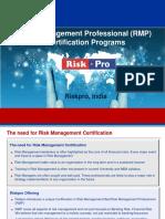 Risk Management Certification