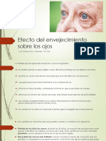 Presentación sobre el Efecto Del Envejecimiento Sobre Los Ojos