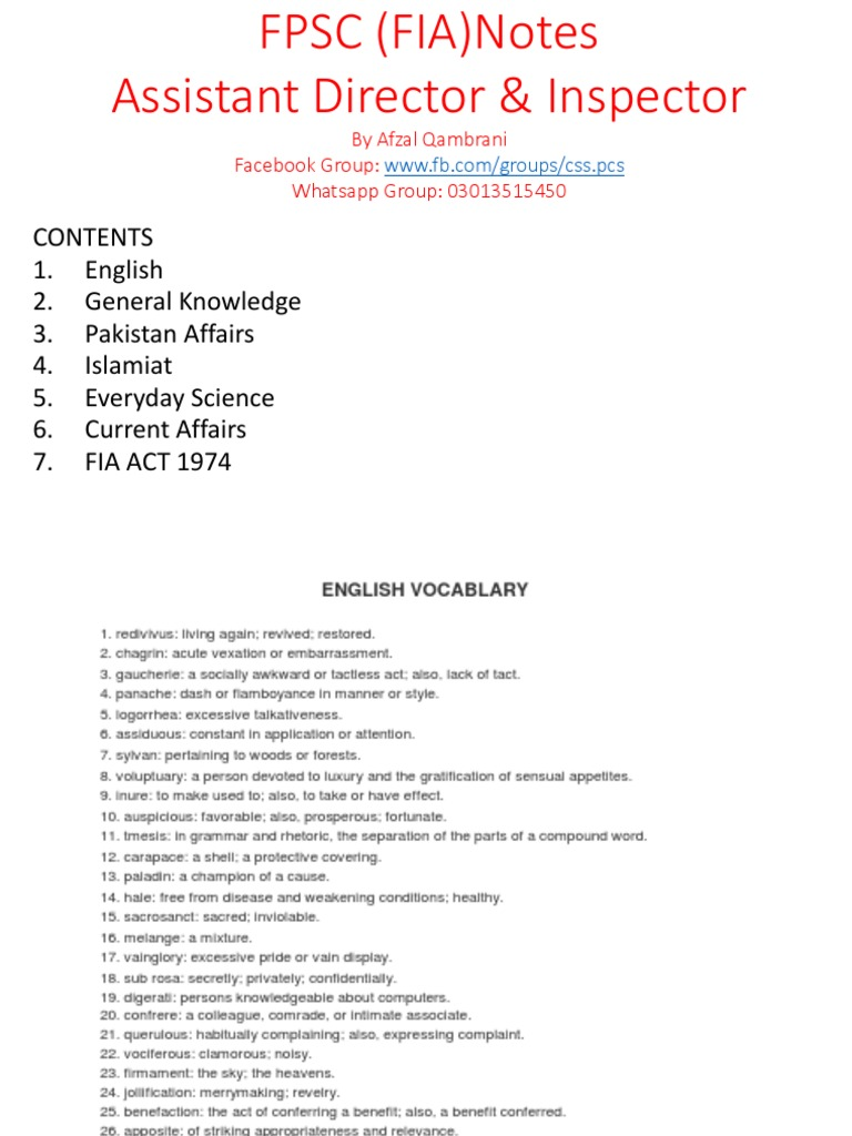 FIA Notes pdf   Nawaz Sharif   Muhammad Zia Ul Haq