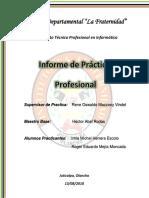 Informe General de La Practica Professional 2018