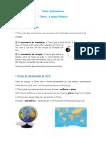 Ficha Informativa - Terra, o Nosso Planeta
