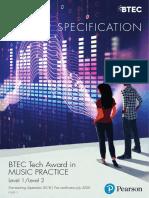 BTEC Tech Award in Music