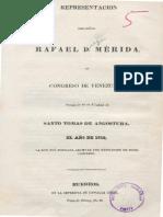 1819 Rafael Diego Mérida - Acusaciones contra Bolívar BN, F. Quijano 410, pza. 5
