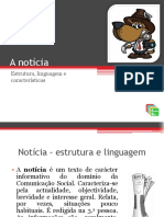 A Noticia Estrutura Linguagem e Caractersticas