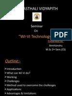 Seminar on WI-VI