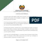 Comunicado CCEP - CIP 3