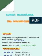Exposicion Ecuaciones de Segundo Grado