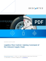 Logistics Flow Control - Gaining Command of the Inbound Supply Chain