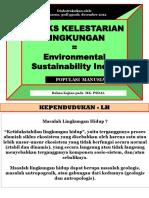Indeks Kelestarian Lingkungan Populasi Manusia