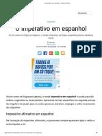 imperativo em espanhol