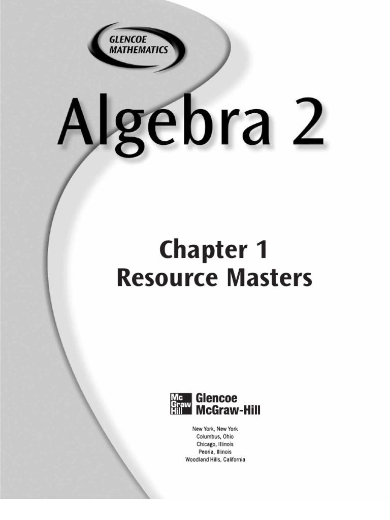 Mcgraw hill algebra 1 chapter 10 test 2a