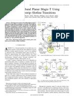 A Broadband Planar Magic-T Using Microstrip–Slotline Transitions