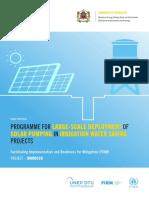 FIRM Morocco Solar Pumping NAMA