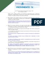 Provimento 74 PDF