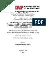 Intrusismo en La Profesión Del Técnologo Médico en La Especialidad de Terapia Física y Rehabilitación