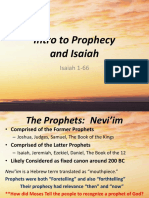 10. Intro to Prophecy and Isaiah