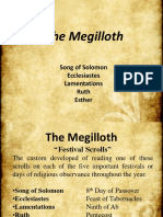 18. the Megilloth- Festival Scrolls