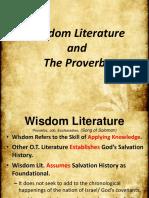 16. Wisdom Literature and Proverbs.pptx