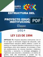 ESTRUCTURAS PROYECTO EDUCATIVO