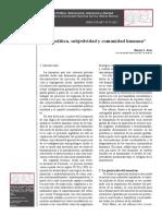 Biopolitica, Subjetividad y Comunidad Humana. Martín E. Diaz