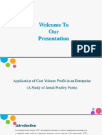 Application of Cost Volume Profit in an Enterprise