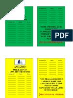 Tarjeta de Operatividad Andamios